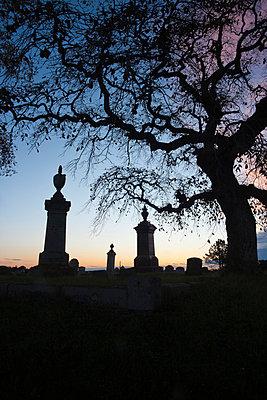 Friedhof bei Nacht - p3300440 von Harald Braun