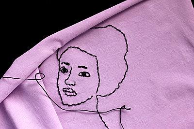 Gesicht genäht - p450m814988 von Hanka Steidle