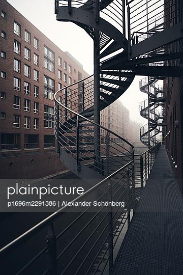 Winding staircase - p1696m2291386 by Alexander Schönberg