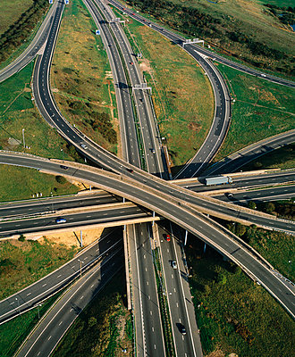 Motorway intersection - p1048m992614 by Mark Wagner