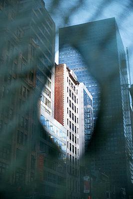 Construction fence in Manhattan, New York City - p1614m2223019 by James Godman