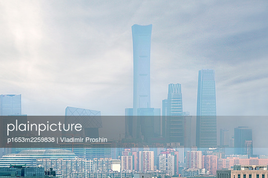 China, Beijing, Skyline - p1653m2259838 by Vladimir Proshin