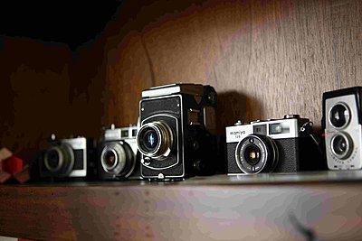 Vintage Cameras  - p578m2090248 by Genie C Balantac