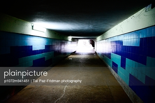 Pedestrian underground tunnel - p1072m941451 by Tal Paz-Fridman photography