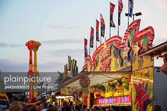 Midway on Capital Ex Fairgrounds; Edmonton, Alberta, Canada - p442m936515 by LJM Photo