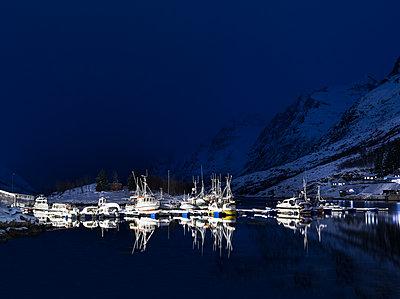 Harbour at night - p1250m2125589 by werner bartsch