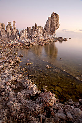 Tufa formations at first light, Mono Lake, California, United States of America, North America - p871m1073399f by James Hager