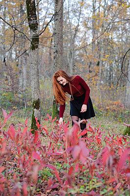 Girl in autumn forest - p1412m1510896 by Svetlana Shemeleva