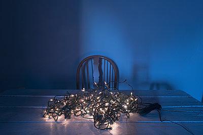 Christmas lights table chair nobody sad depressing - p609m1226551 by OSKARQ