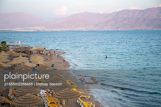 Eilat Just Before Sunset - p1655m2288468 by lindsay basson