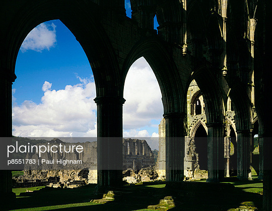 Rievaulx Abbey. View from inside the Presbytery looking towards refrectory block. - p8551783 by Paul Highnam
