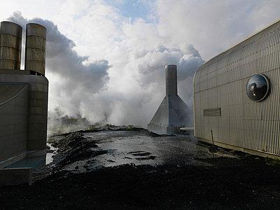 Geothermic power station Iceland. - p31221019f by Ingemar Lindewall