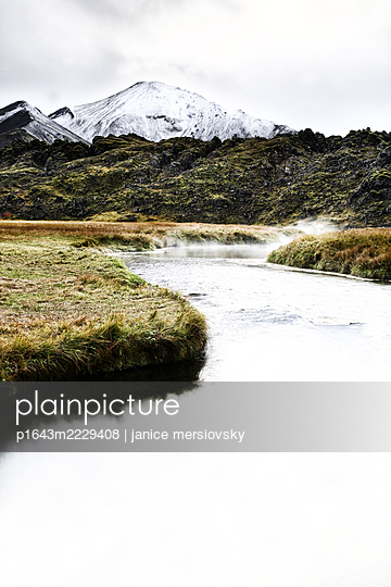 River in mountain landscape, Iceland - p1643m2229408 by janice mersiovsky