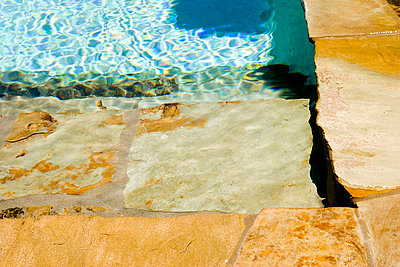 Swimming Pool and Stone Deck - p5550376f by LOOK Photography
