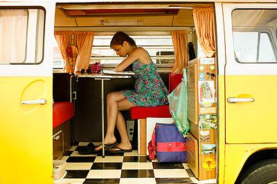 In a VW Van - p896m835510 by Richard Brocken