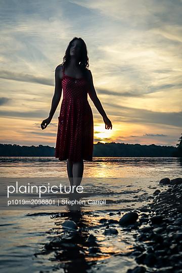 Evening walk - p1019m2098801 by Stephen Carroll