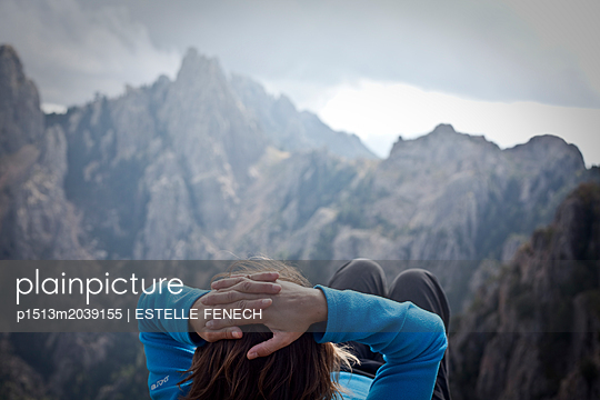 Relaxation on the mountain ridges in Corsica - p1513m2039155 by ESTELLE FENECH