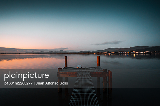 Bathing jetty and platform in the sea, Dundalk, Ireland - p1681m2263277 by Juan Alfonso Solis
