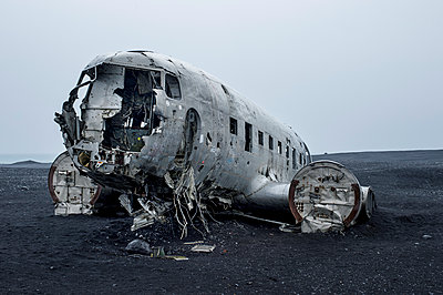Planewreck on lava soil in Iceland - p947m1586604 by Cristopher Civitillo