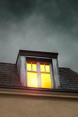 Illuminated window - p975m2279033 by Hayden Verry