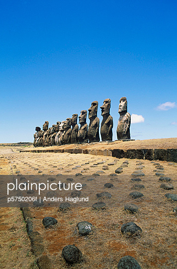 Stone sculptures Easter Island