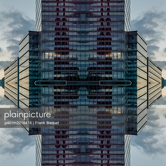 Abstract Architecture Kaleidoscope Cologne Mediapark - p401m2216416 by Frank Baquet