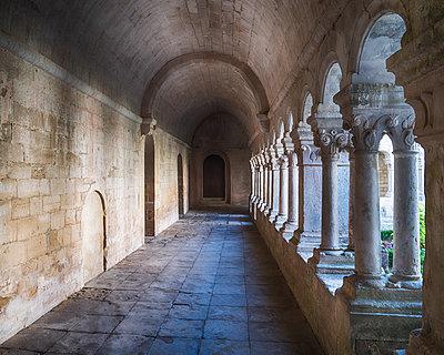 Monastery Walkway - p1154m2092947 by Tom Hogan
