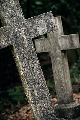 Crosses in a cemetery - p1280m2089703 by Dave Wall