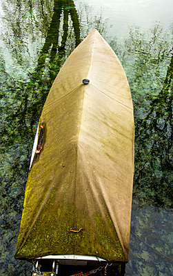 Covered boat on the Lake d'Annecy - p813m1119130 by B.Jaubert