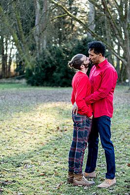 Schwules Paar im Park - p787m2115274 von Forster-Martin