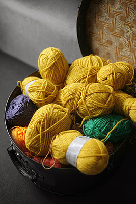 Balls of wool - p1028m853805 by Jean Marmeisse