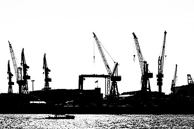 Ferry at Hamburg Harbour - p488m946249 by Bias
