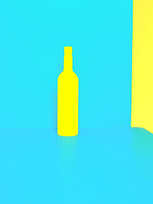 Yellow bottle - p1413m2065234 by Pupa Neumann