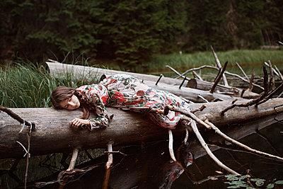 Girl by a lake - p1432m2273296 by Svetlana Bekyarova
