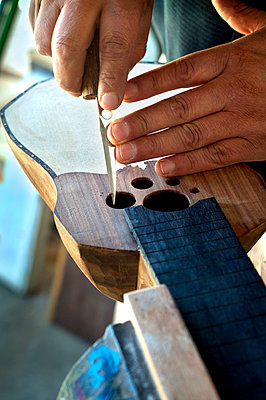 Artisian, Constructing A Charango, Bolivian Relative Of The Guitar, La Paz, Bolivia - p651m860432 by John Coletti photography