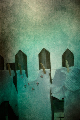 baby clothes on washline - p7940220 by Mohamad Itani