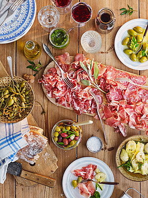 Tapas on table - p312m1180433 by Jakob Fridholm