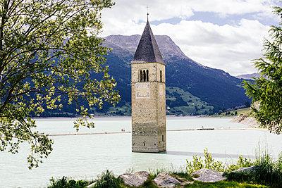 Versunkene Kirchturm im Reschensee I, Graun - p1357m1488493 von Amadeus Waldner