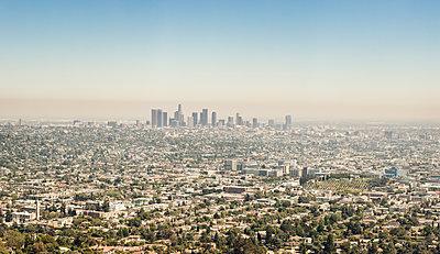 Los Angeles skyline - p1515m2101061 by Daniel K.B. Schmidt