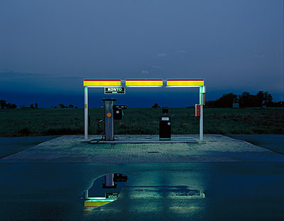Gas Station - p972m1056386 by Gerry Johansson