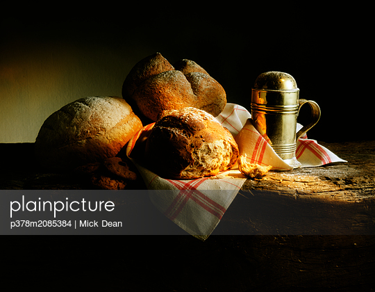 Still Life With Breads - p378m2085384 by Mick Dean