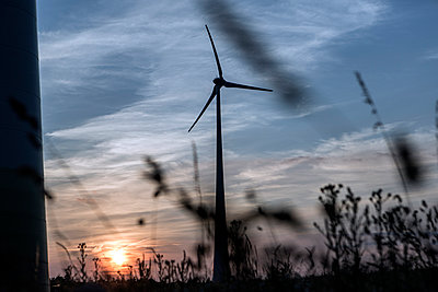 Windkraftanlage Kemel, Tausnuskamm, Rheingau Taunus Kreis - p718m892120 von Arne Landwehr