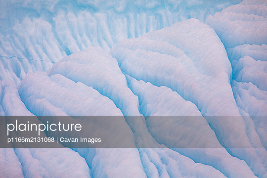 Textures and lines in blue iceberg, Torngats Mountains National Park - p1166m2131068 by Cavan Images