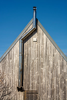 Wooden gable in France - p813m1424594 by B.Jaubert