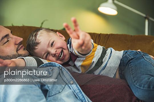 deutschland,mannheim,lifestyle,people,family,zuhause - p300m2286863 von Uwe Umstätter