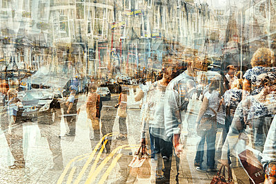 Scotland, city life, multiple exposure - p1640m2245936 by Holly & John