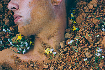 Partially Buried Body - p1262m1072841 by Maryanne Gobble