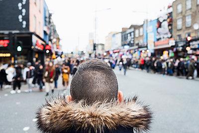 Man in Camden market in London - p1423m2052295 by JUAN MOYANO