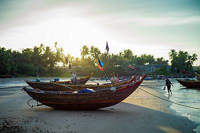 Fishing harbor in Mui Ne, Binh Thuan Province, Vietnam, Southeast Asia - p934m1177101 by Sebastien Loffler