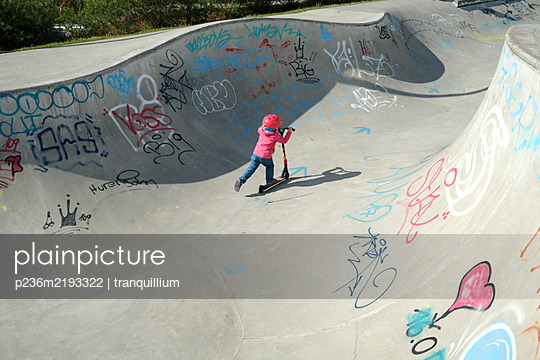Skate park with graffitis - p236m2193322 by tranquillium